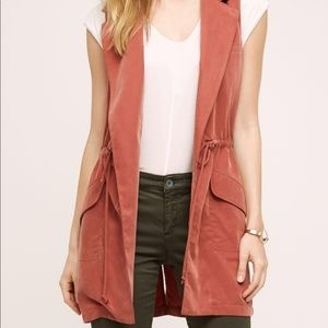 Anthropologie elevenses Old Town vest EUC